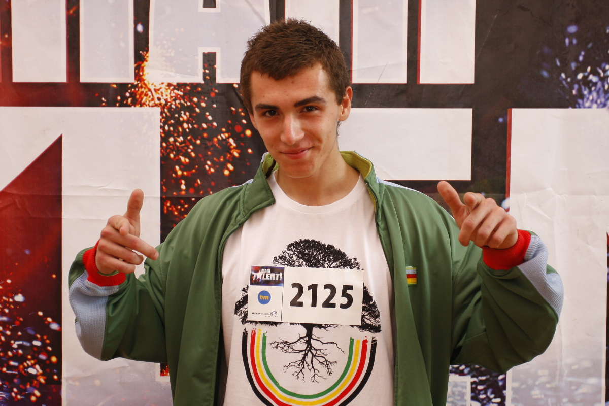 Kamil Bednarek na castingu do III edycji